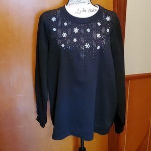 NWT Breckenridge Black Sweatshirt, size 2X